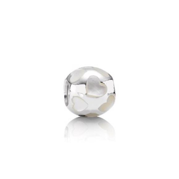 e02e25f5e Pandora Opal Heart Bead Charm. M_5a44fc4c8df4705eda0cbd5d